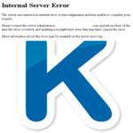 Ошибка Internal Server Error в Kate Mobile